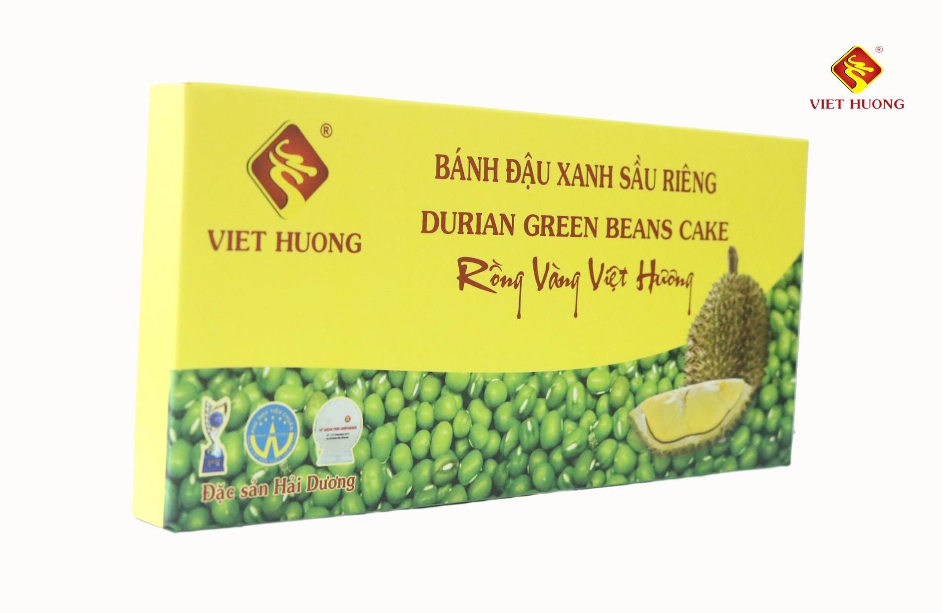 Kết quả hình ảnh cho Bánh đậu xanh sầu riêng viethuong